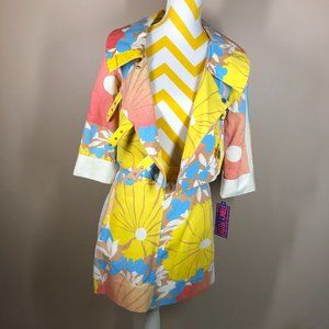 Tracy Feith Colorful Floral 100% Cotton Jacket
